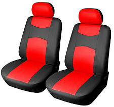 2 Car Seat Covers PU Leather Compatible to Mercedes-Benz 859 Black/Red