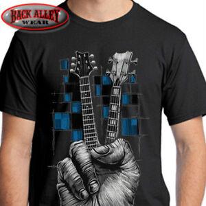 3bde4e4ed662 DON'T FRET T-SHIRT Tee ~ MUSIC ~ Guitarist Bass Guitar Peace Sign ...