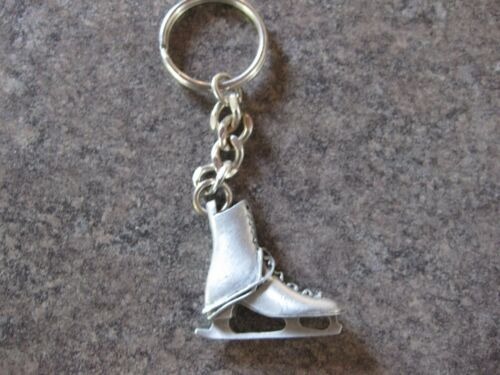 WOMAN/'S ICE SKATE KEY  CHAIN KEY RING PEWTER