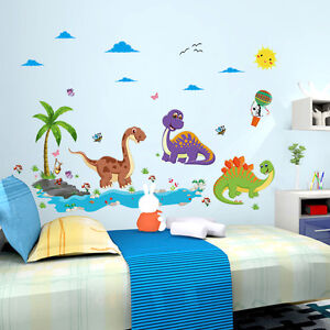 wandtattoo kinderzimmer tiere dino sonne meer v gel wandsticker gro dinosaurier ebay. Black Bedroom Furniture Sets. Home Design Ideas
