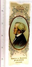 Lovely Composer Richard Wagner Smith & Barnes Pianos Chicago Bookmark Card F49
