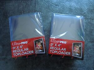 Ultra-Pro-50x-Regular-Toploader-Card-Protection-Top-Loader-NEU-OVP