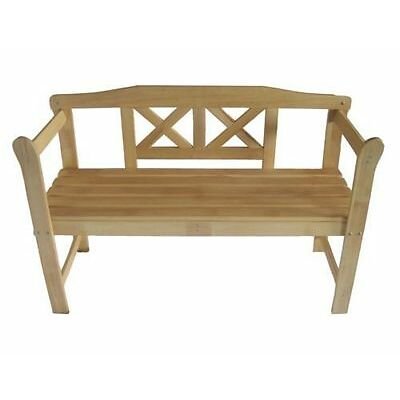 Garden Bench Hardwood Outdoor Home Wooden 2 Seat Seater Furniture Patio Park 1