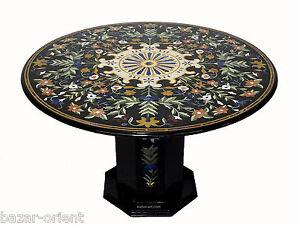 122-cm-Marmor-Pietra-Dura-Esstisch-Tisch-Florentiner-Mosaik-Marble-Inlay-table