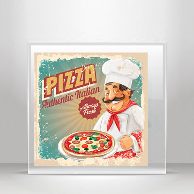 """Cook Pizza Italy Food Car Bumper Sticker Decal 5/"""" x 5/"""""""
