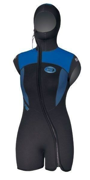 Bare 5mm Women's Size 16  Velocity Scuba Diving Vest with Attached Hood  fast shipping worldwide
