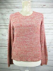 Ladies-Hugo-Boss-Orange-Cropped-Chunky-Knit-Jumper-Sweater-Size-Medium
