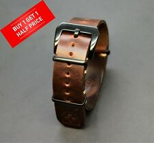 Genuine Leather Watch Strap,Zulu Band Panerai style Handmade 18/20/22/24 mm