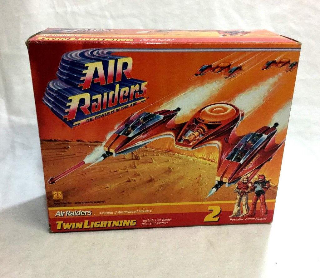 Hasbro 1987 Vintage Air Raiders Twin Lightning completare Sealed scatolaed gratuitoSHIP