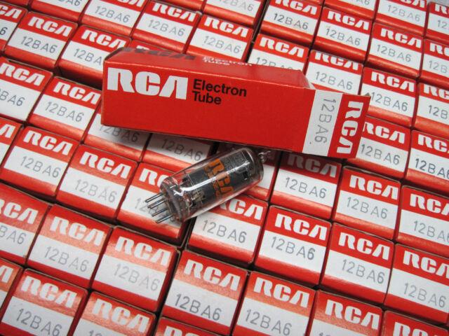 NOS 12BA6 Vacuum Tubes - RCA - BRAZIL - (All American Five, AA5, Black Plates)