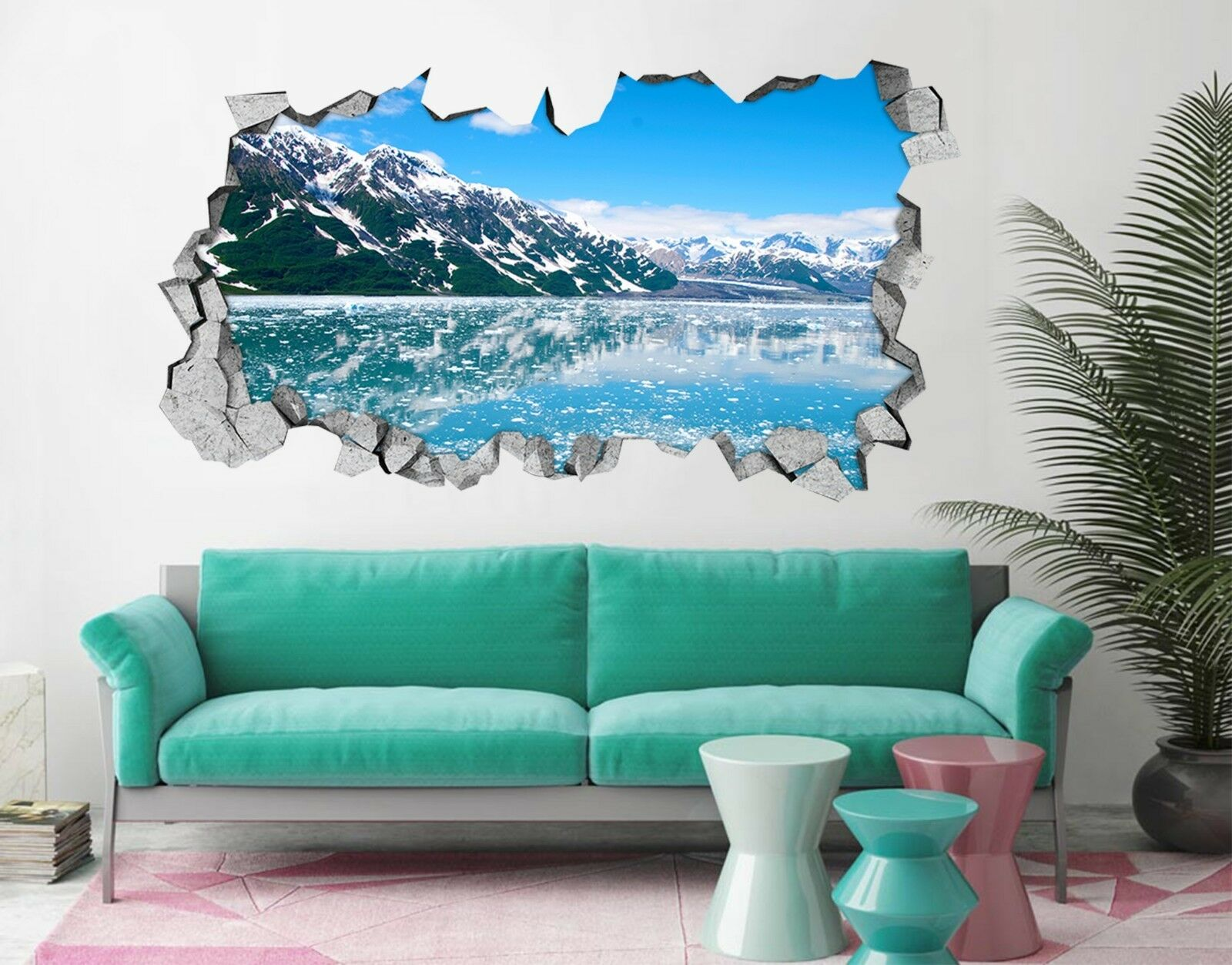 3D Lago Di Neve blue 110 Parete Murales Adesivi Decal Sfondamento AJ WALLPAPER IT