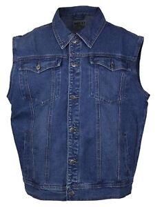 NWT Men/'s Wacky Jeans Wear Medium Blue Classic Denim Jean Vest ALL BIG SIZES