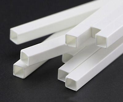 "US Stock 10x ABS Styrene Plastic Rectangular Square Tube Model Layout 10mmx9.8/"""