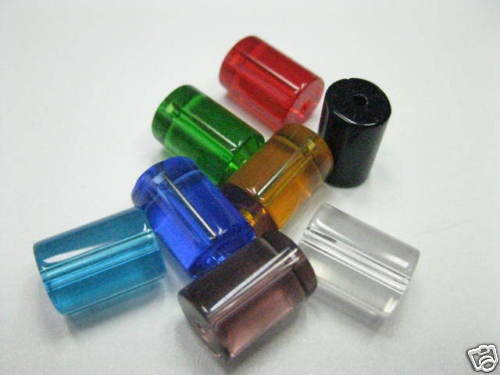 8 abalorios Mix platina multicolor claro 13x8mm perlas nuevo 5284 k6