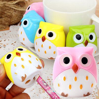 Cute Owl Bird Pencil Sharpener Stationary School Kid Children Mini Design New