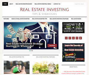 * REAL ESTATE INVESTING * affiliate website business for sale AUTOMATIC CONTENT!