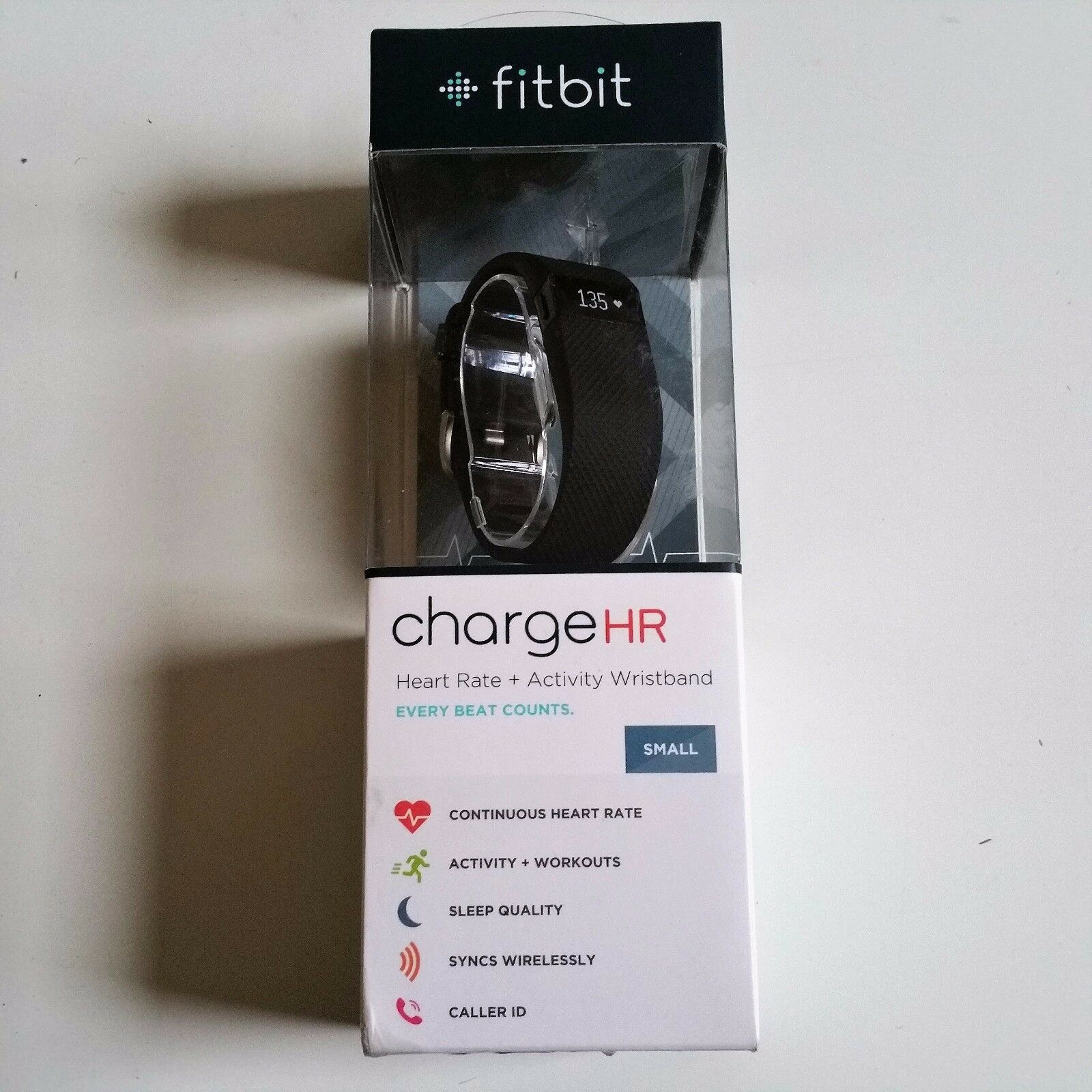 Fitbit ChargeHR Heart Rate & Fitness Activity Tracker Wristband Small Black New! activity black chargehr fitbit fitness heart rate small tracker wristband