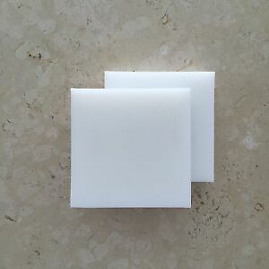 "White SeaBoard HDPE Polyethylene Plastic Sheet 0.500"" 1//2/"" x 36/"" x 30/"" Textured"