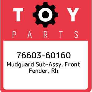 76603-60160-Toyota-Mudguard-sub-assy-front-fender-rh-7660360160-New-Genuine-O