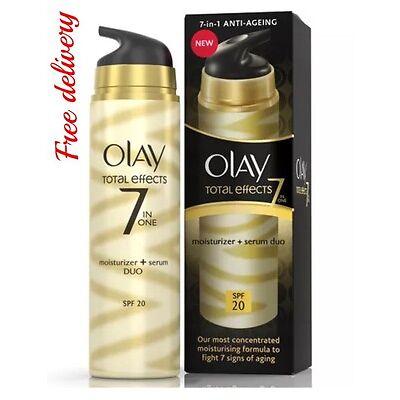Olay Total Effects 7-in-1 Moisturiser + Serum Duo SPF20 - 40 ml.