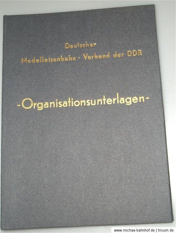 Tedesco Modellino Ferrovia Associazione Der DDR Organisationsunterlagen Stand