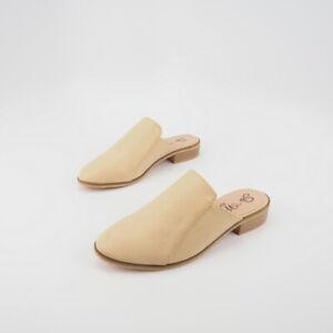 Vegan Leather Loafer Mules Slides Sz 6