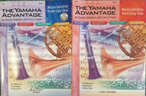 The Yamaha Advantage Tuba Book 1 /& 2 BRAND NEW with CD book 1 w//CD only