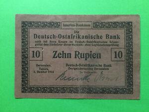 DARESSALAM-TABORA-DOA-Bank-10-Rupien-1-Oktober-1915-Ros-912-a