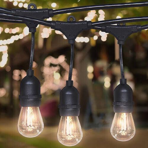48 Ft Weatherproof Outdoor String, Proxy Lighting 48 Foot Weatherproof Outdoor String Lights
