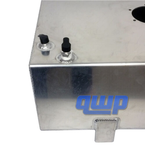 New Top-Feed Performance Polish Aluminum Slim 17 Gallon Fuel Cell Tank Gas Tank