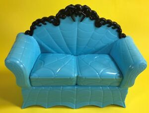 16 Scale Monster High Doll Dollhouse Furniture Blue Couch Sofa Only