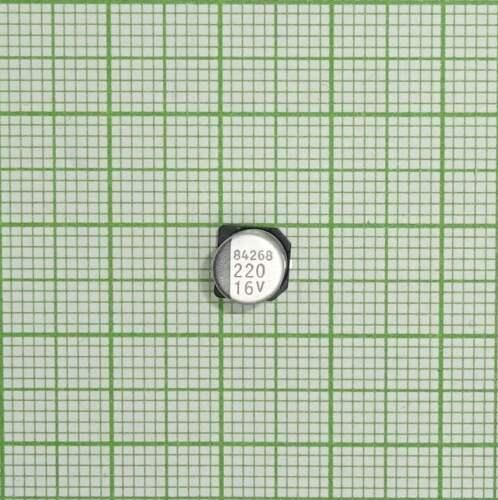E512+ SMD Elko 220µF 16V CK Kondensator Stützkondensator Flackerschutz 10 St