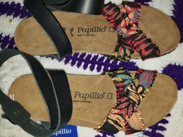 NEW Papillio Lola Textile Leather Black Sandal Women Size 9 (40 EUR)  $150
