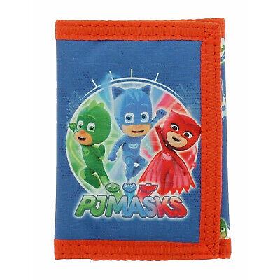 Pj Maschere Heroes Tri-fold Wallet Per Bambini Blu Bambini Gancio E Passante-mostra Il Titolo Originale
