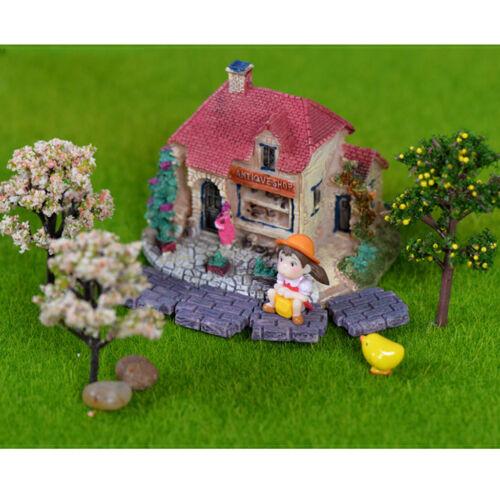 10// 20 Mini Bricks Dollhouse Bonsai Decor Fairy Garden Moss Lawn Landscaping