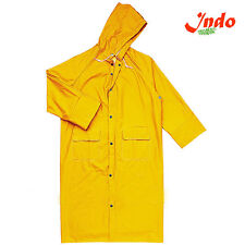 Indo Women Waterproof Trench Long Rain Coat For Ladies with carry beg