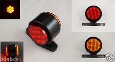 2x 24V Rot Bernstein LED Stiel Seite Begrenzungsleuchten Lampen Lkw Bus Traktor