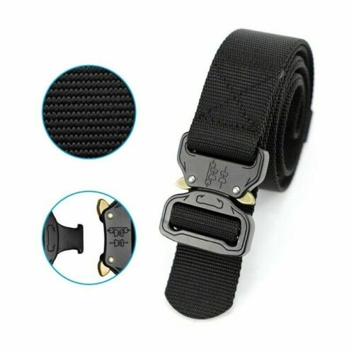 Outdoor Army Military Tactical Belt Men Safety Nylon Male Combat Waistband Solid