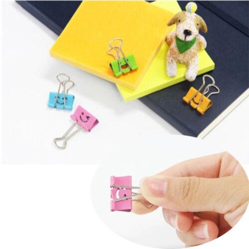 20 Stück Büro Zubehör Werkzeug Papier Farbe Long Tail Clip Briefpapier Ordner