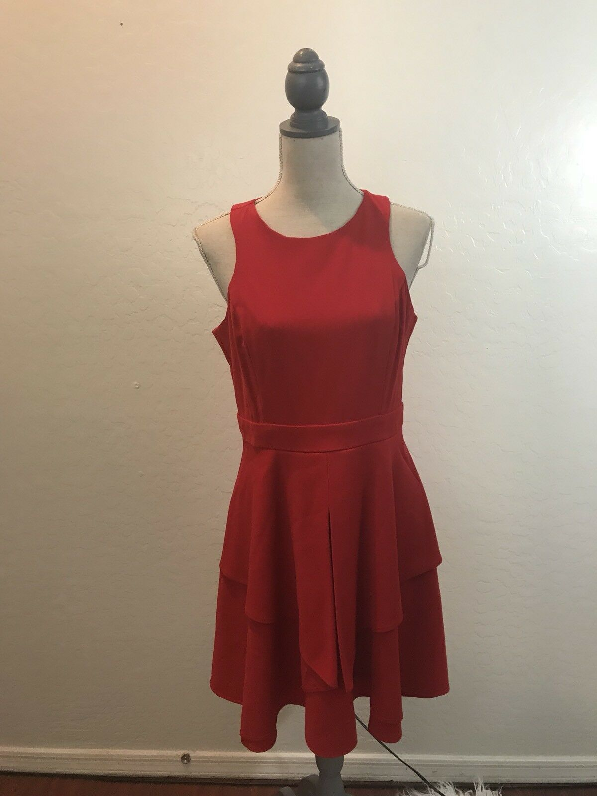Adelyn Rae Dress Large Magenta Red Spring Nordstrom Ruffle