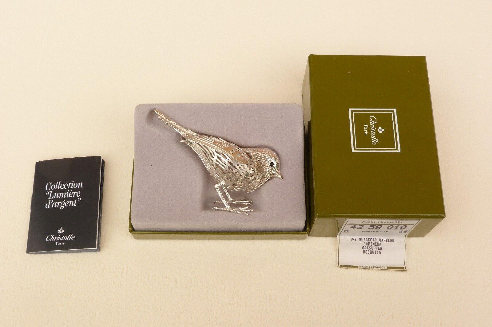 Oiseau Fauvette en métal CHISTOFLE argenté CHISTOFLE métal collection lumière d'argent ref 755 94c7c7