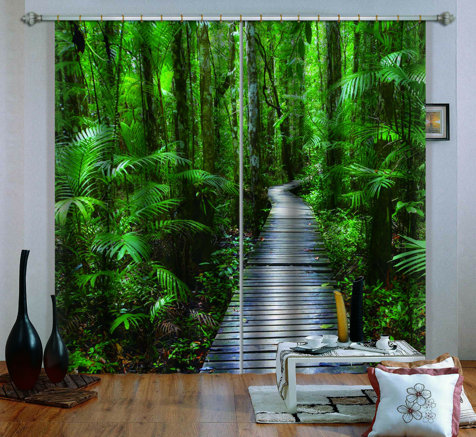 3d Forest Path 25 bloqueo foto cortina cortina de impresión sustancia cortinas de ventana