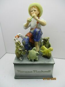 Vintage-Collectible-Norman-Rockwell-Schmid-Music-Box-034-Talk-to-the-Animals-034