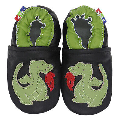 carozoo crocodile cream 18-24m soft sole leather baby shoes