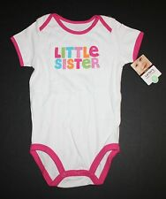 New Carter's Little Sister Colorful Applique White Bodysuit Size 18 Months NWT