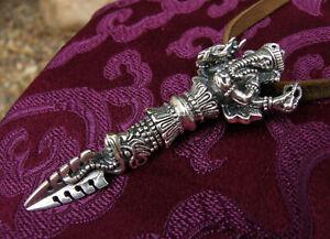 PRÄCHTIGER, sehr großer GANESHA PHURBA Anhänger aus NEPAL, 925er Silber