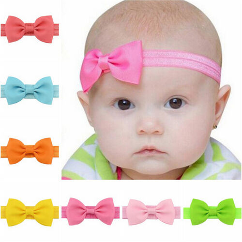 20X Baby Girls Bow Butterfly Headband Hairband Soft Elastic Hair Accessories HCL
