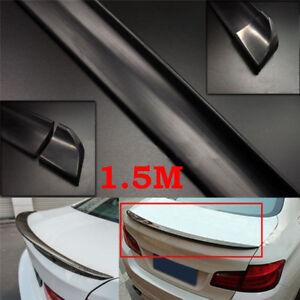 4-9Ft-1-5M-Matte-Black-Auto-Car-Rear-Roof-Trunk-Splitter-Spoiler-Trim-Protec-BC