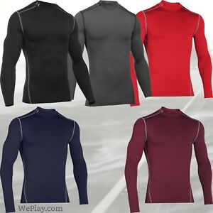 Under-Armour-ColdGear-Compression-Mock-Turtle-Neck-Shirt-1265648-FREE-SHIP-NEW