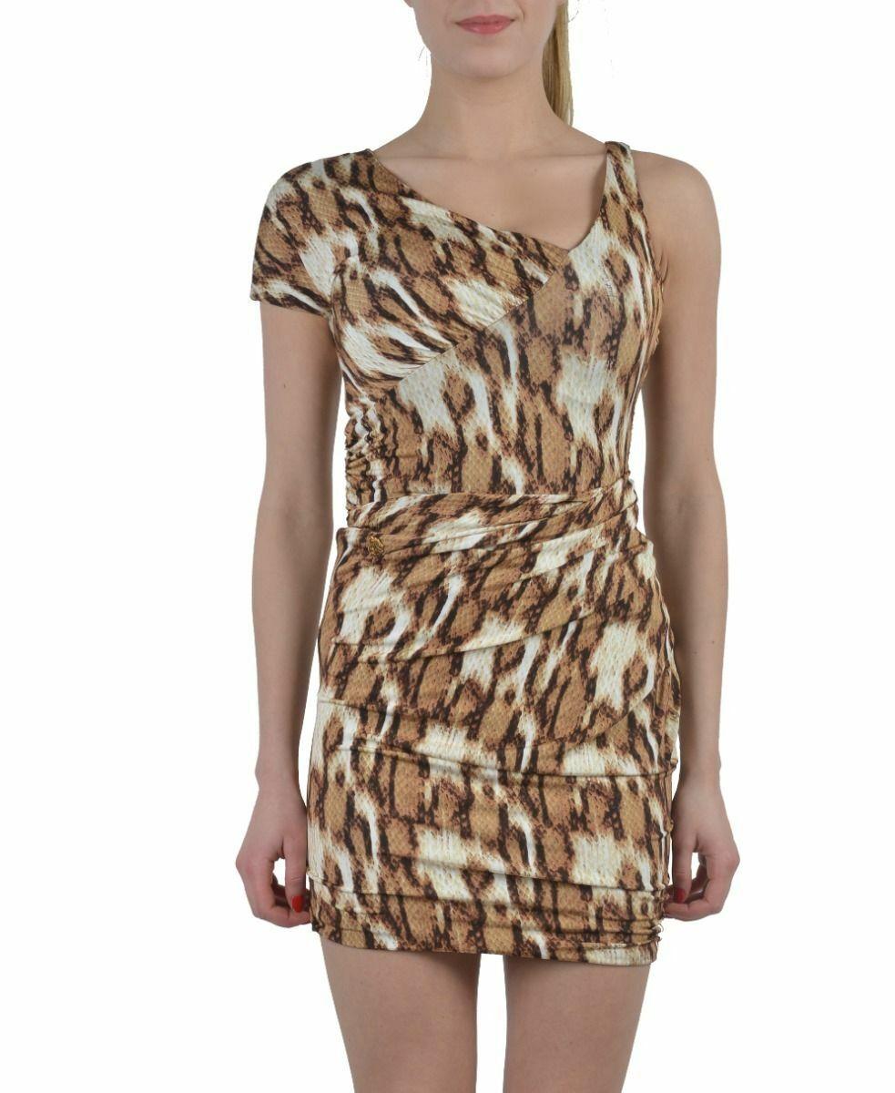 Just Cavalli Multi-Farbe One Shoulder Stretch Bodycon Dress Größe XS S M L XL